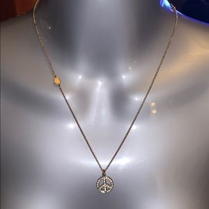 JUICY COUTURE PEACE SIGN NECKLACE